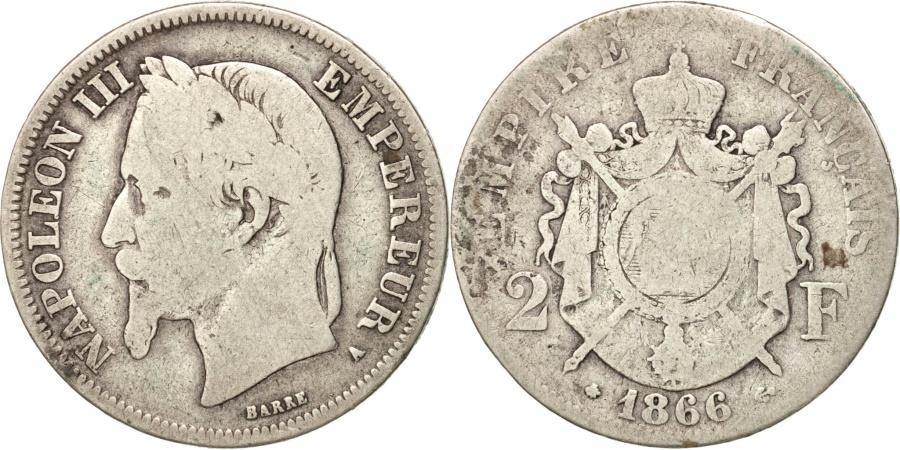 World Coins - France, Napoleon III, Napoléon III, 2 Francs, 1966, Paris, , Silver
