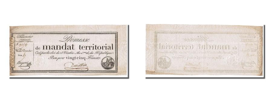 World Coins - France, 25 Francs, 1796, KM #A83b, 1796-03-18, AU(55-58), Lafaurie #200,...