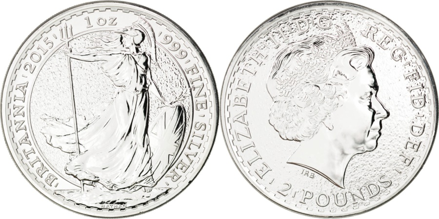 World Coins - Great Britain, 2 Pounds, 2015, KM #New, , Silver, 31.20