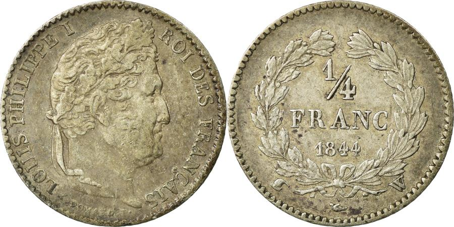 World Coins - Coin, France, Louis-Philippe, 1/4 Franc, 1844, Lille, , Silver