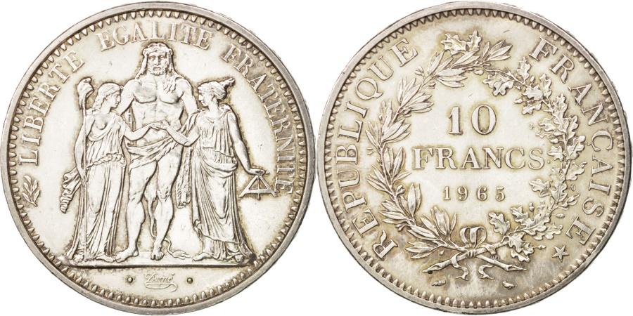 World Coins - France, Hercule, 10 Francs, 1965, Paris, , Silver, KM:932, Gadoury:813