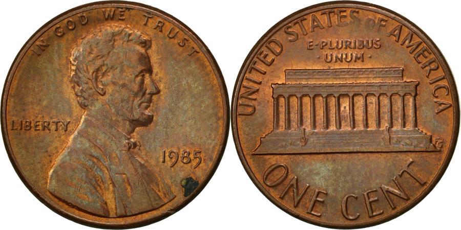 US Coins - United States, Lincoln Cent, Cent, 1985, U.S. Mint, Philadelphia,