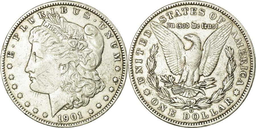US Coins - Coin, United States, Morgan Dollar, Dollar, 1901, U.S. Mint, New Orleans