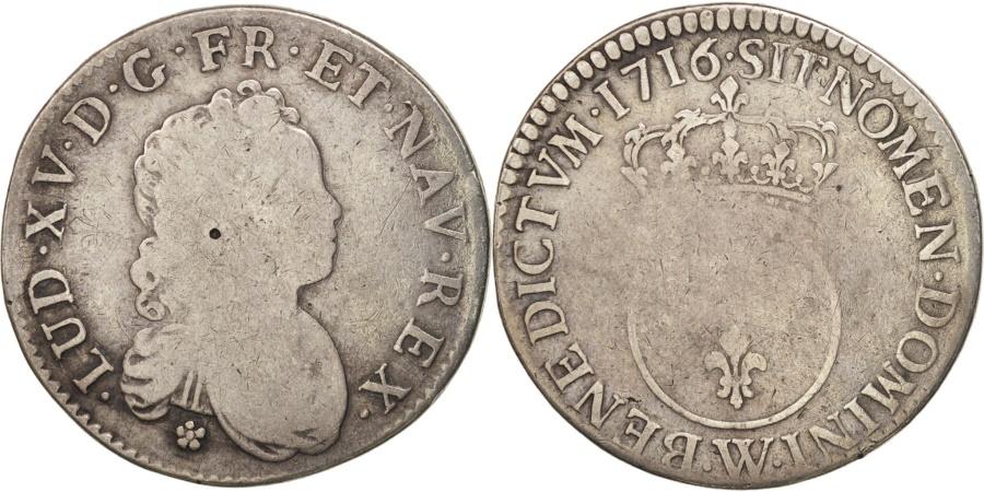 World Coins - France, Louis XV, 1/2 Écu Vertugadin, 1716, Lille, , KM:420.19
