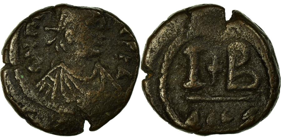 Ancient Coins - Coin, Maurice Tiberius, 12 Nummi, 582-602, Alexandria, , Copper