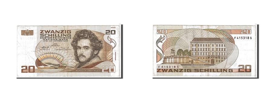 World Coins - Austria, 20 Schilling, 1986, KM #148, VF(20-25), F415318S