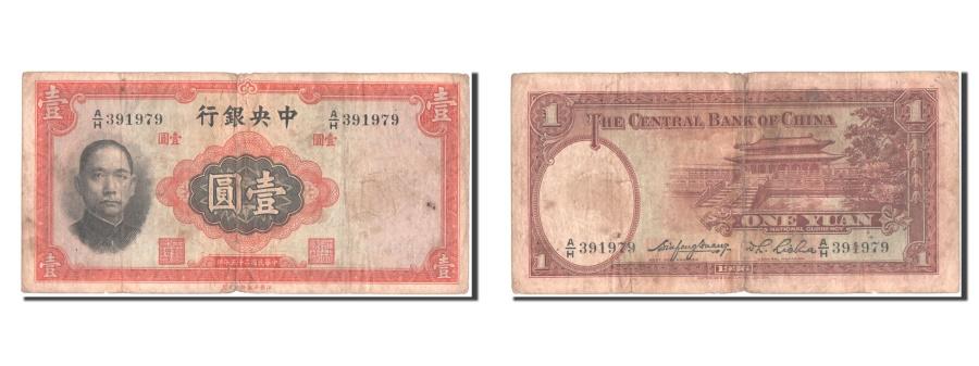World Coins - China, 1 Yüan, 1936, KM #216a, VF(20-25), A/H 391979