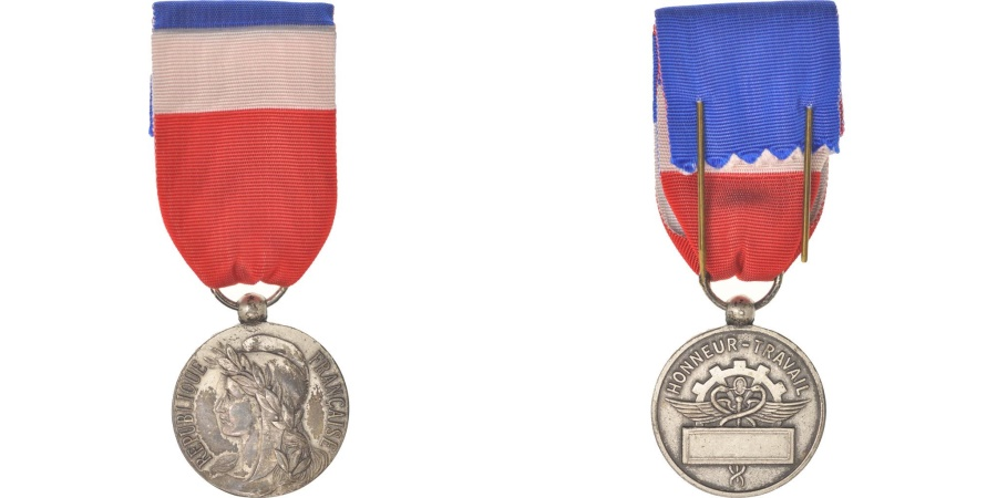 World Coins - France, Médaille d'honneur du travail, Medal, XXth Century, Good Quality