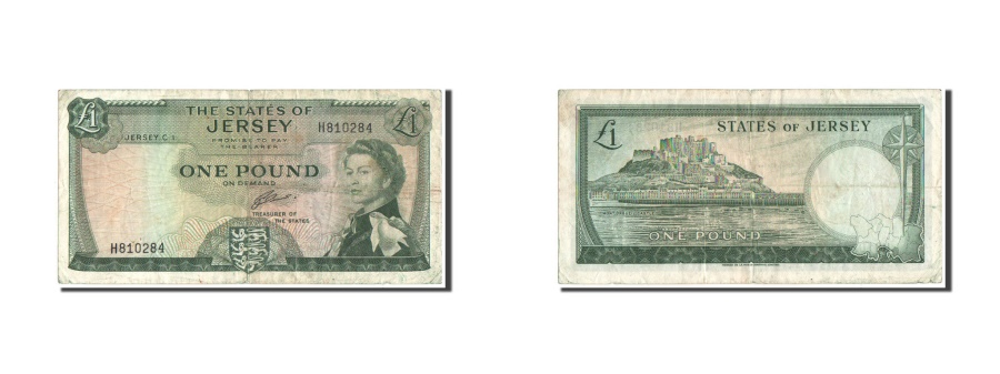 World Coins - Jersey, 1 Pound, 1963, KM:8b