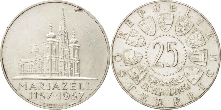 World Coins - Austria, 25 Schilling, 1957, , Silver, KM:2883