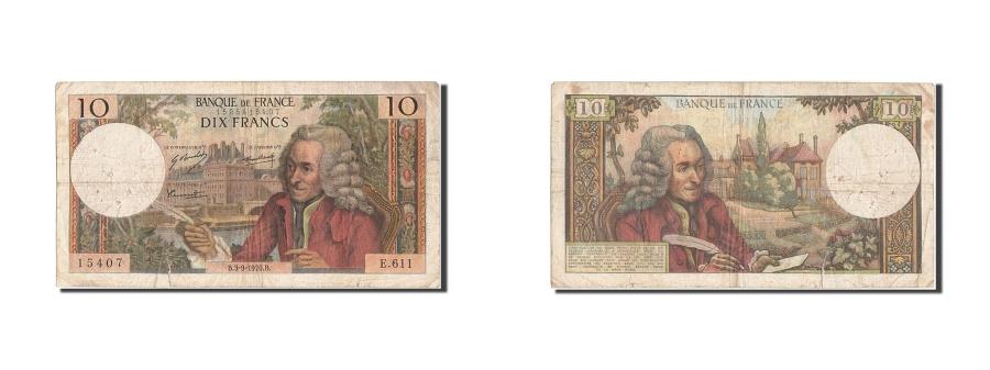 World Coins - France, 10 Francs, 10 F 1963-1973 ''Voltaire'', 1970, KM #147c, 1970-09-03,...