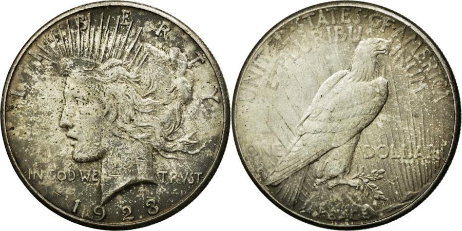 US Coins - Coin, United States, Peace Dollar, Dollar, 1923, U.S. Mint, San Francisco