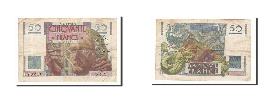 World Coins - France, 50 Francs, 1948, KM:127b, 1948-04-08, VF(30-35), Fayette:20.10