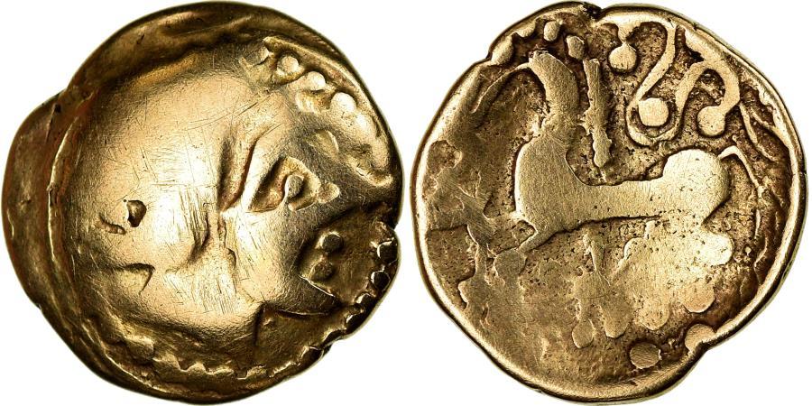 Ancient Coins - Coin, Mediomatrici, 1/4 Stater, Rare, , Gold, Latour:8937