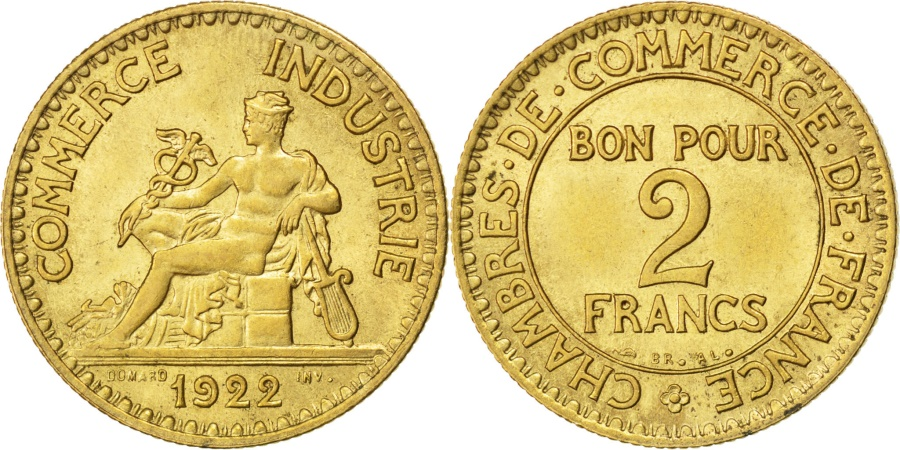 France chambre de commerce 2 francs 1922 paris km for Chambre commerce international paris