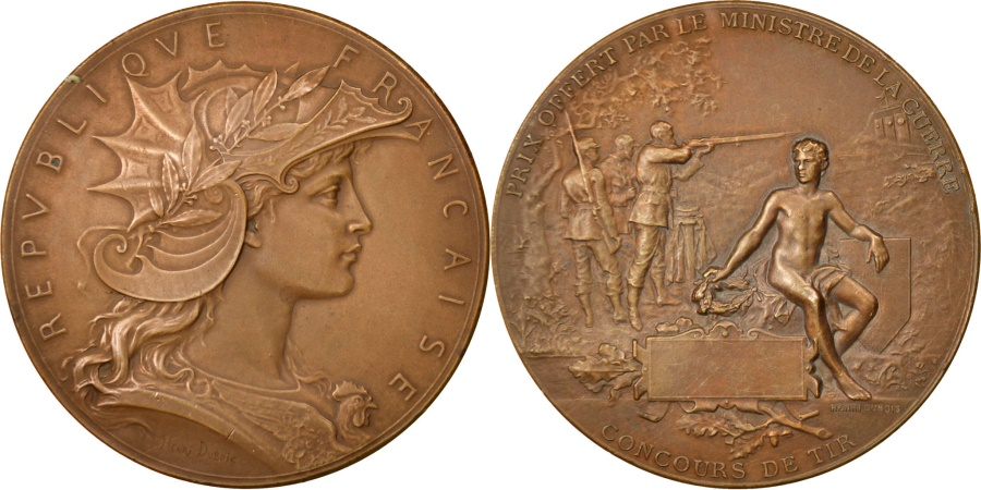 World Coins - FRANCE, Sports & leisure, French Third Republic, Medal, , Dubois.H,...