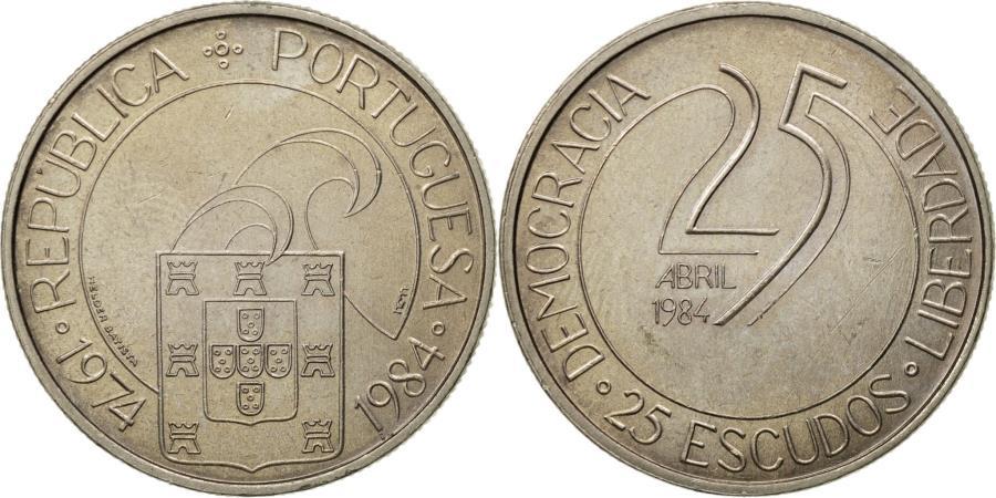 World Coins - Coin, Portugal, 25 Escudos, 1984, , Copper-nickel, KM:Pr27