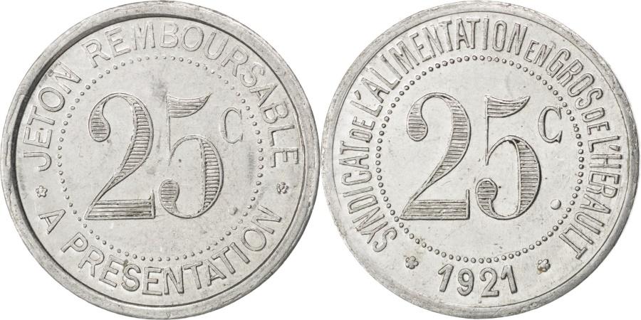 World Coins - France, 25 Centimes, 1921, , Aluminium, Elie #20.3, 1.28