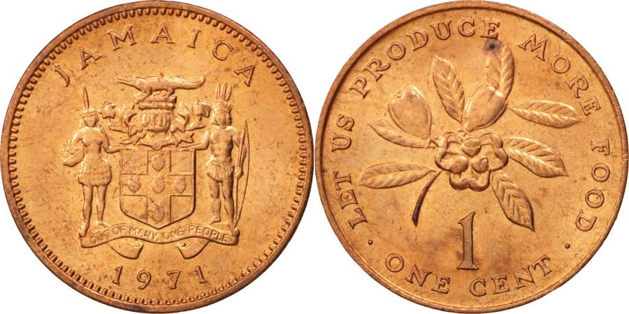 World Coins - Jamaica, Elizabeth II, Cent, 1971, Franklin Mint, , Bronze, KM:45