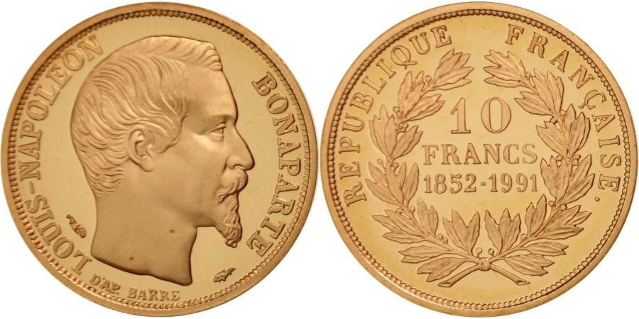france medal louis napol on bonaparte 10 francs french fifth republic. Black Bedroom Furniture Sets. Home Design Ideas