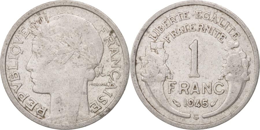 World Coins - France, Morlon, Franc, 1945, Castelsarrasin, , Aluminum, KM:885a.3