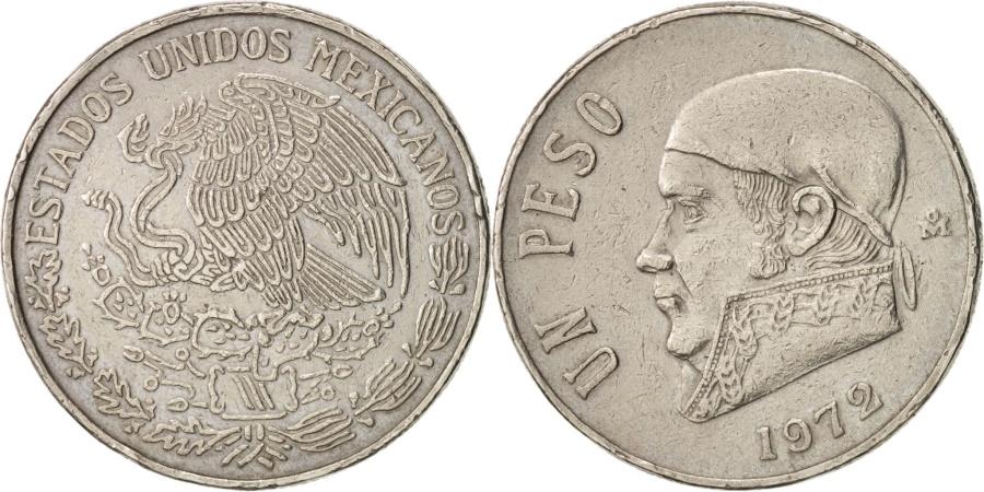 World Coins - Mexico, Peso, 1972, Mexico City, , Copper-nickel, KM:460