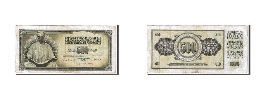World Coins - Yugoslavia, 500 Dinara, 1981, KM #91b, VF(20-25), BG7031729