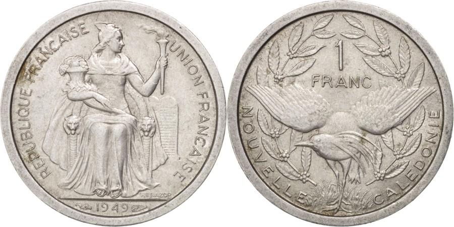 World Coins - New Caledonia, Franc, 1949, Paris, , Aluminum, KM:2