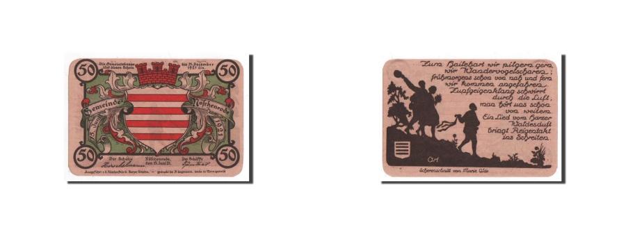 World Coins - Germany, Noschenrode, 50 Pfg, personnage, 1921-06-15, UNC(65-70), Mehl:980.11