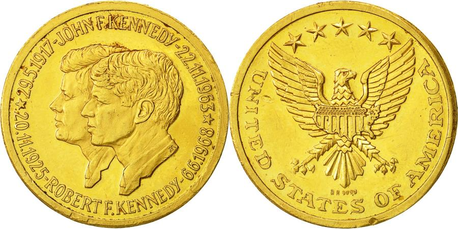 US Coins - United States, Medal, John Fitzgerald Kennedy, , Gold