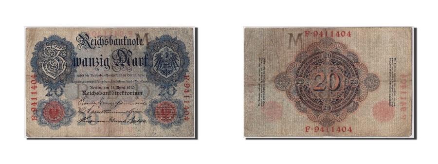 World Coins - Germany, 20 Mark, 1910, KM #40b, 1910-04-21, VF(20-25), F.9411404