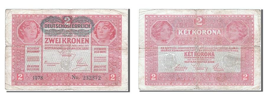 World Coins - Austria, 2 Kronen, 1917, KM #50, 1917-03-01, VF(20-25), 232372