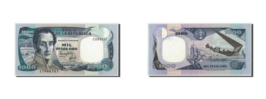 World Coins - Colombia, 1000 Pesos Oro, 1992, KM:432A, 1992-01-31, UNC(65-70)