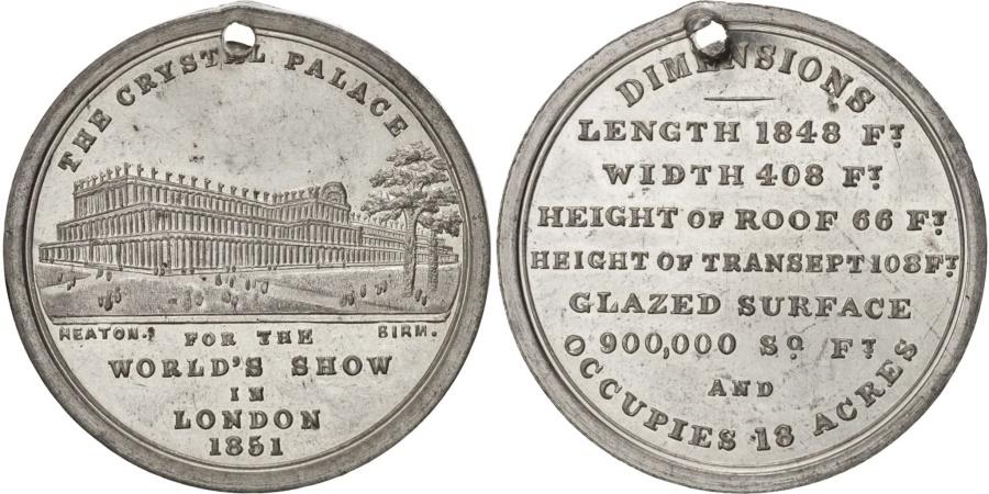 World Coins - United Kingdom, Great-Britain, Token, 1851, , Tin, 30, 6.50