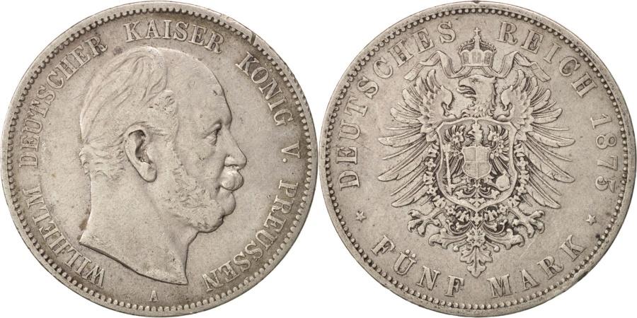 World Coins - German States, PRUSSIA, Wilhelm I, 5 Mark, 1875, , Silver, KM:503