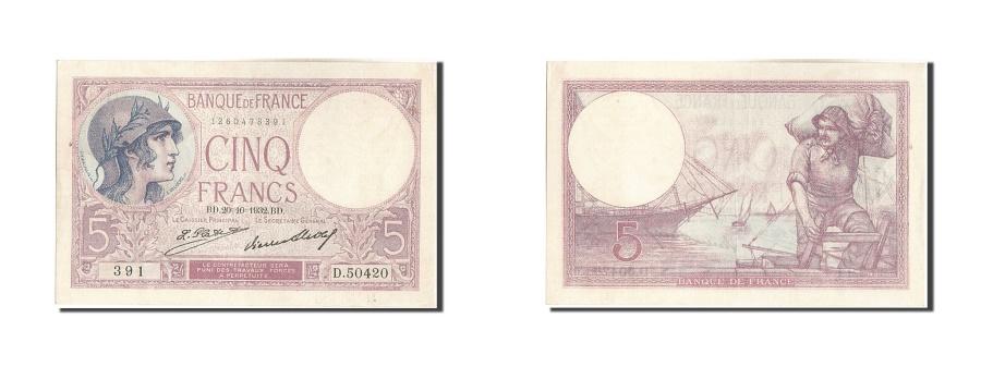 World Coins - France, 5 Francs, 5 F 1917-1940 ''Violet'', 1932, KM #72d, 1932-10-20,...