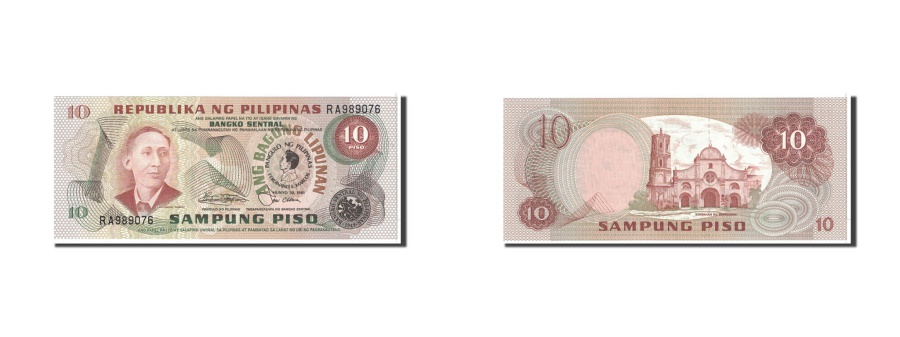 World Coins - Philippines, 10 Piso, 1974, KM:161b, UNC(65-70)