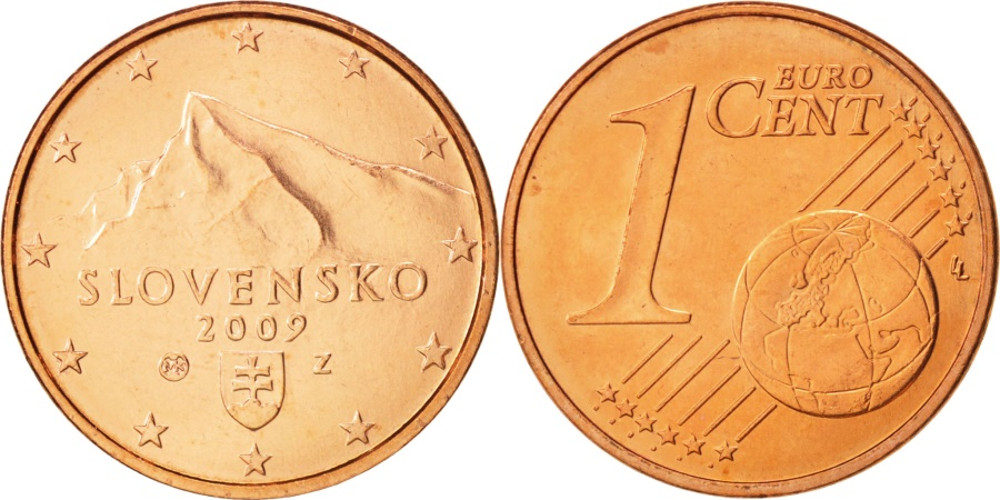 World Coins - Slovakia, Euro Cent, 2009, , Copper Plated Steel, KM:95