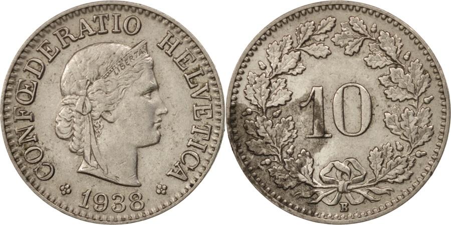World Coins - Switzerland, 10 Rappen, 1938, Bern, , Nickel, KM:27b