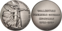 World Coins - France, Medal, Victoire de la Marne, History, Delannoy, MS(65-70), Silvered