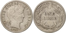 United States, Barber Dime, Dime, 1913, U.S. Mint, Philadelphia, VF(30-35)