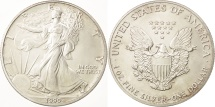 Us Coins - United States, Dollar, 1990, Philadelphia, MS(60-62), Silver, KM:273