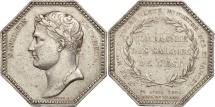 World Coins - France, Napoléon, Octagonal silver token, 1806, Droz, EF(40-45), Silver