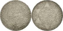 Morocco, 'Abd al-Aziz, 1/2 Rial, 5 Dirhams, 1904, Paris, EF(40-45), Silver