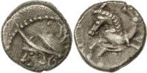Ancient Coins - Allobroges, Denier à l'hippocampe, VF(30-35), Silver, Delestré:3127