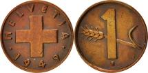 World Coins - Switzerland, Rappen, 1949, Bern, AU(55-58), Bronze, KM:46