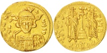 Ancient Coins - Constantine IV 668-685, Solidus, Constantinople, AU(55-58), Gold, Sear #1154,...