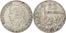 France, Patey, 25 Centimes, 1905, EF(40-45), Nickel, KM:856, Gadoury:364