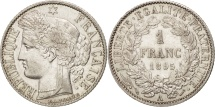 World Coins - France, Cérès, Franc, 1895, Paris, AU(55-58), Silver, KM:822.1, Gadoury:465a