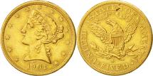 Us Coins - United States, Coronet Head, $5, 1901, San Francisco, AU(50-53), Gold, KM:101